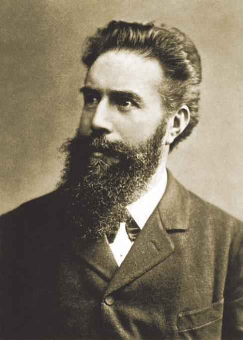 Retrat de Wilhelm Röntgen.