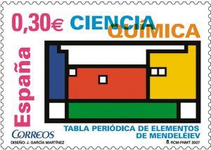 segell commemoratiu de Mendeléiev