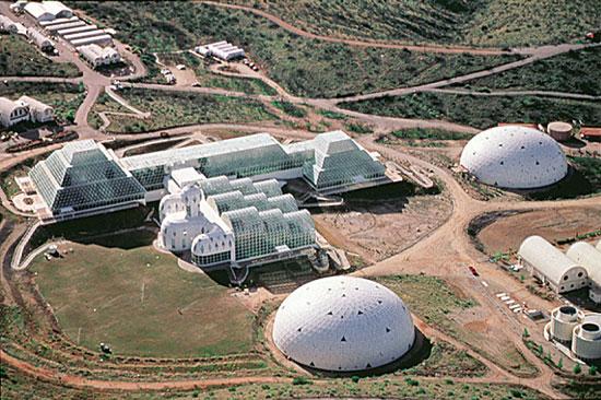 Vista aérea del complejo Biosfera 2