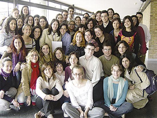 Primera promoció de la llicenciatura en Periodisme de la Universitat de València.