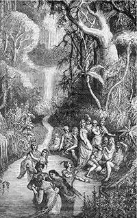 Fontenelle va imaginar Venus poblada de gent constantment rejovenida per les fletxes màgiques d'Apol·lo, vius, inquiets, plens de foc, sempre amorosos, fent versos, gaudint de la música, inventant tots els dies festes, balls i tornejos.