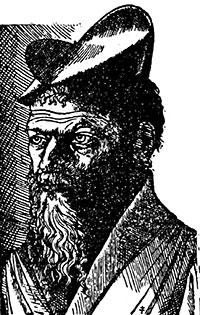 L'únic retrat autèntic conegut de Pierre Belon, que apareix a Les observations de plusieurs singularitez et choses mémorables (1553).