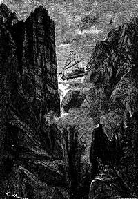 """L'Albatros és un aerovaixell amb 37 pals que, en compte de veles tenen dues hèlix, per al desplaçament vertical. Una hèlix a proa i una altra a popa permeten el desplaçament horitzontal. Verne era membre fundador de la """"Societat d'encoratjament de la locomoció aèria per mitjà d'aparells més pesants que l'aire"""". En la novel·la Robur el conquenidor va recollir l'estat de la qüestió sobre aquest tipus de locomoció. A bord de l'Albatros els protagonistes fan la volta al món i verifiquen que el futur de la navegació aèria no està en els globus, sinò en els aparells dirigits amb hèlixs."""