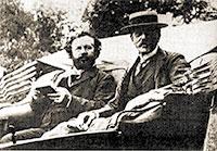 Flammarion i Lowell a Juvissy el 1908.