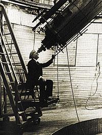 Percival Lowell al seu observatori.