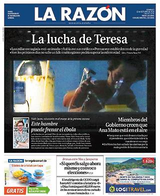 La Razon portada Teresa Romero