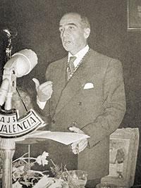 Ignasi Villalonga, autèntic impulsor de la Conferència Econòmica de 1934, en una fotografia del 1957.