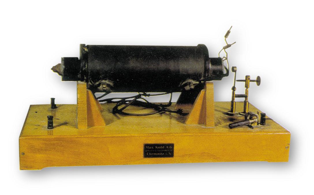 Instruments científics: bobina de Ruhmkorff
