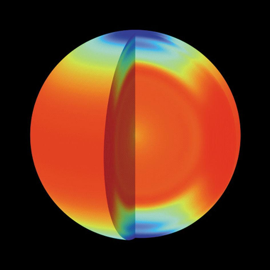 Velocitat mitjana de rotació del fluid del Sol