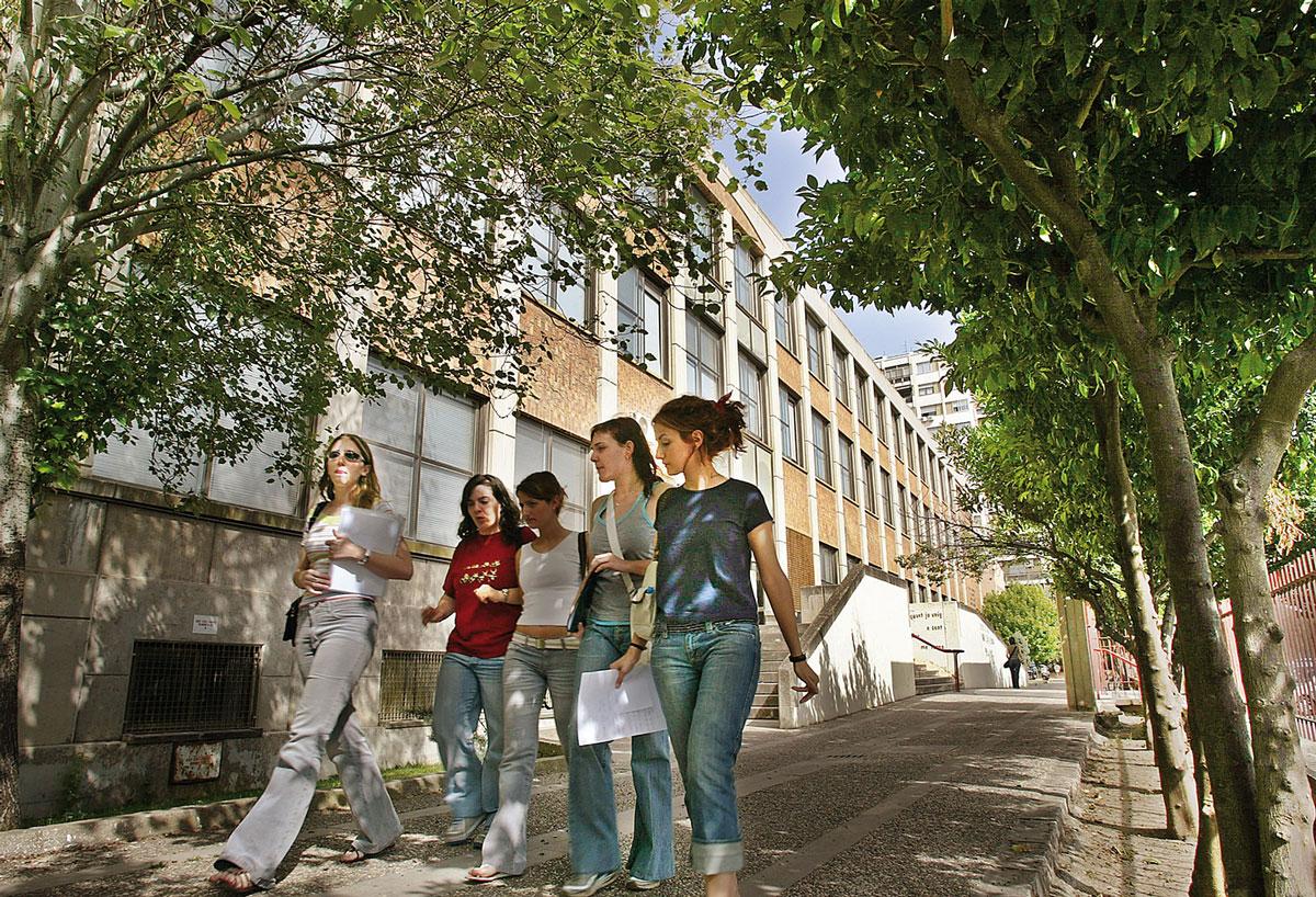 Estudiants a la Facultat de Magisteri de la Universitat de València