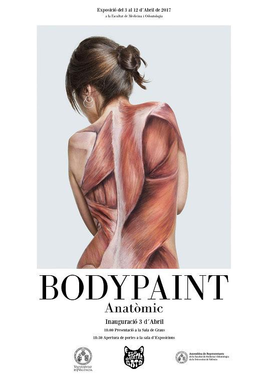 Cartell exposició «BodyPaint Anatòmic»