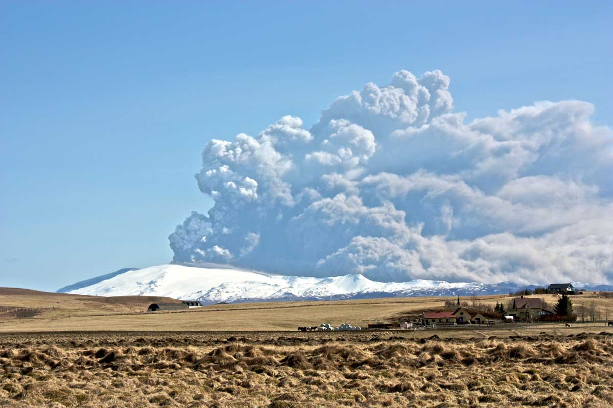 Cendra volcànica - erupcions