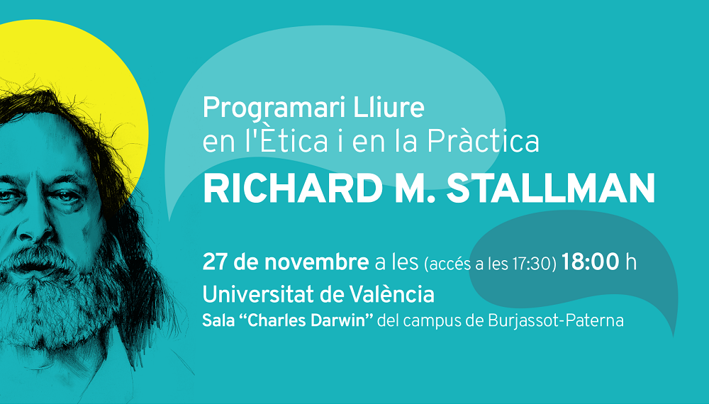 Richard Stallman a la sala Darwin
