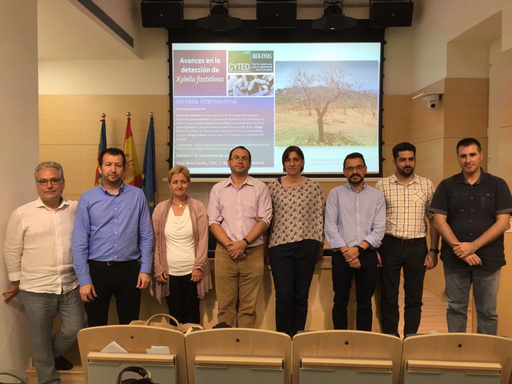 Participants en la jornada sobre xylella