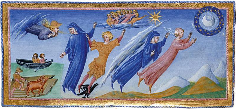 viatges literaris a la lluna divina comèdia