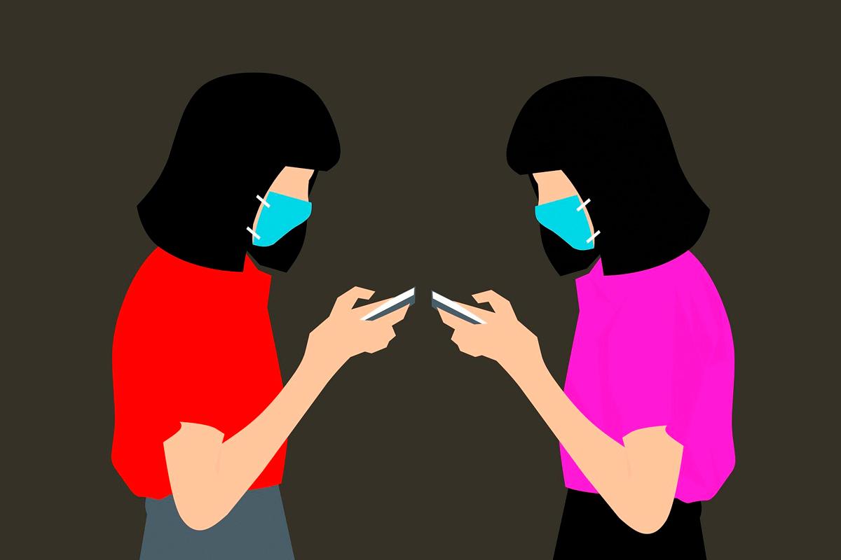 il·lustració dones mascaretes pandèmia coronavirus