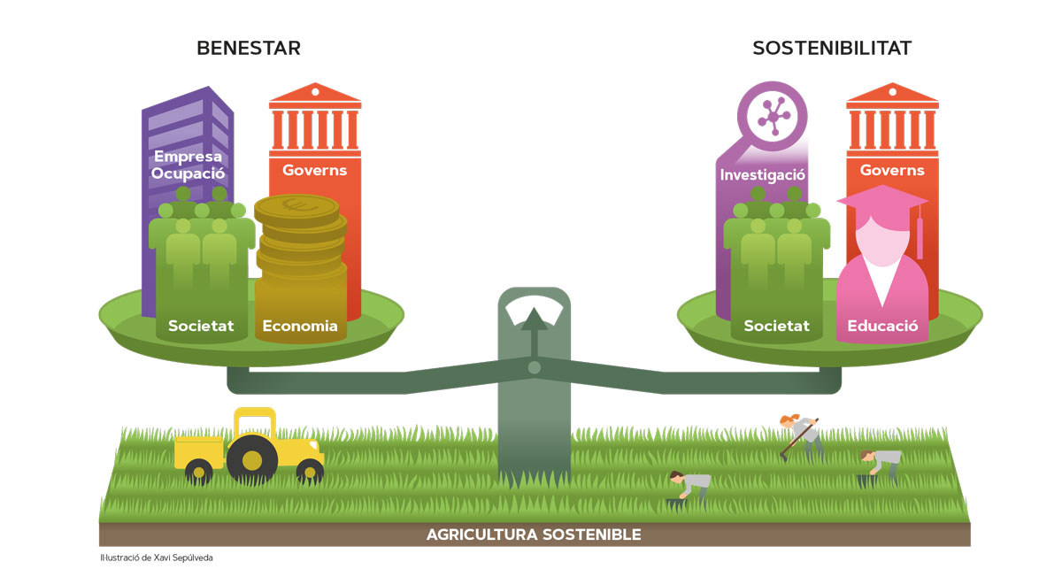 Il·lustració agricultura sostenible