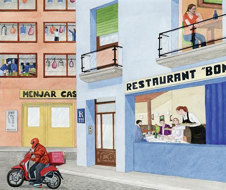 il·lustració restaurants listèria