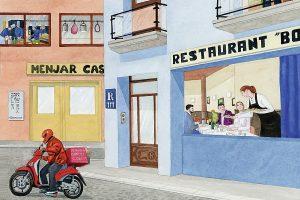il·lustració comerços alimentació listèria