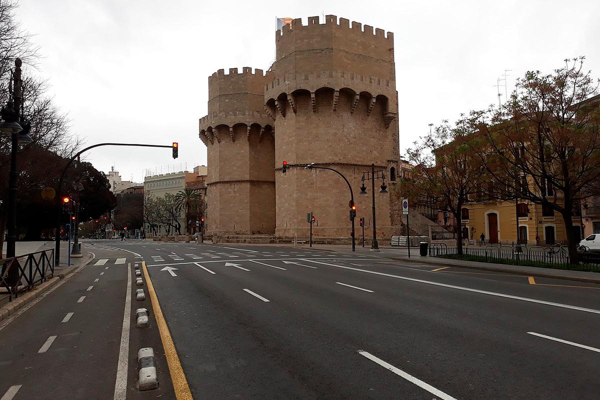 imatge València buida confinament COVID-19