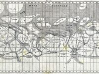 Mapa de Schiaparelli que recull les seves observacions de 1877 a 1888.